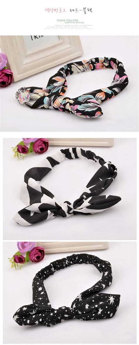 Bando Bowknot Decorated Flower Pattern Design 6 fashion pink flower pattern decorated bowknot design