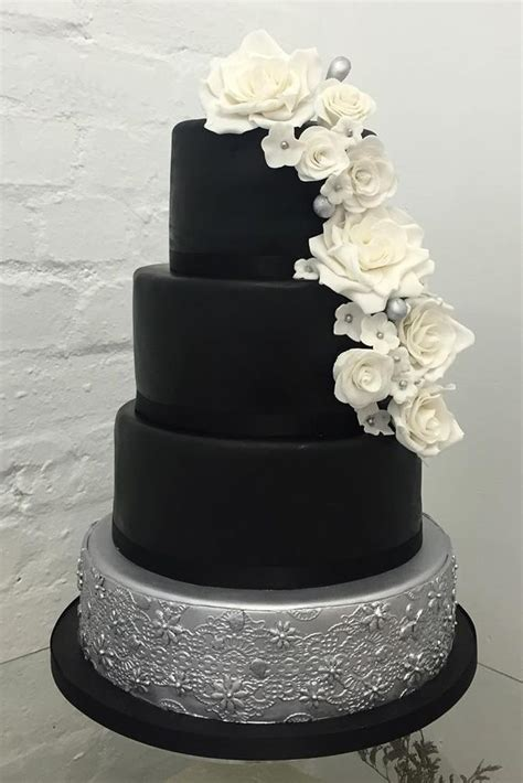 White And Black Wedding Cakes by 25 Best Ideas About Black Wedding Cakes On