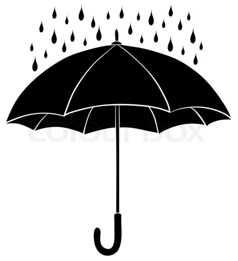 umbrella and rain silhouettes stock photo colourbox