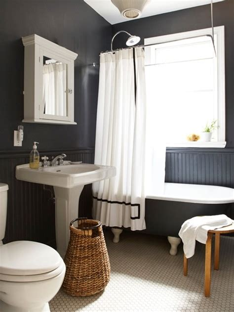 black painted bathroom black and white bathroom ideas 2017 grasscloth wallpaper