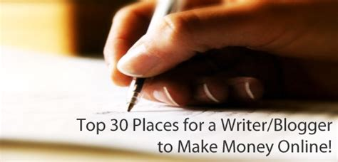 Make Money Online Place - top 30 places for a writer blogger to make money online honeytech blog