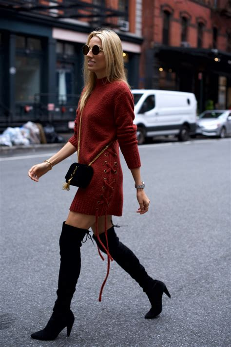 dress with boots lace up sweater dress the knee boots mind