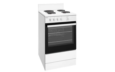 chef ovens and cooktops 54cm white freestanding cooker cfe532wb chef australia