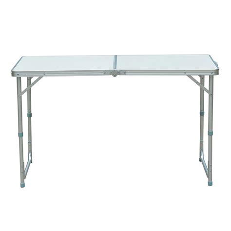 folding portable 4ft aluminum picnic table ideal home