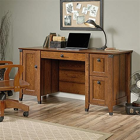 Sauder Carson Forge Washington Cherry Computer Desk 422032