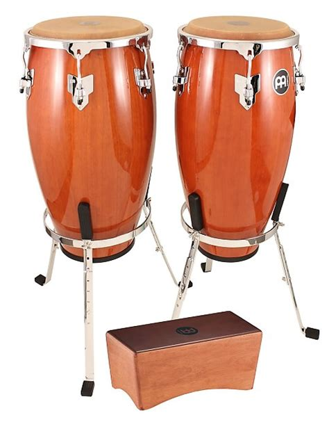 Meinl Stand Up Cajon meinl limited headliner conga set 10 quot 11 quot with stands reverb