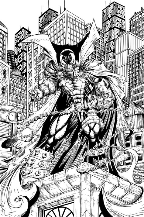 Spawn Coloring Pages spawn inks by c crain on deviantart