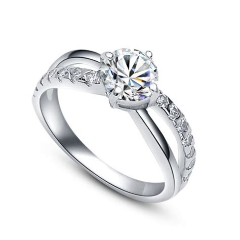 Verlobungsring Frau Silber by Damen Sterling Silber 925 Verlobungsring Ehering Mit 1 25