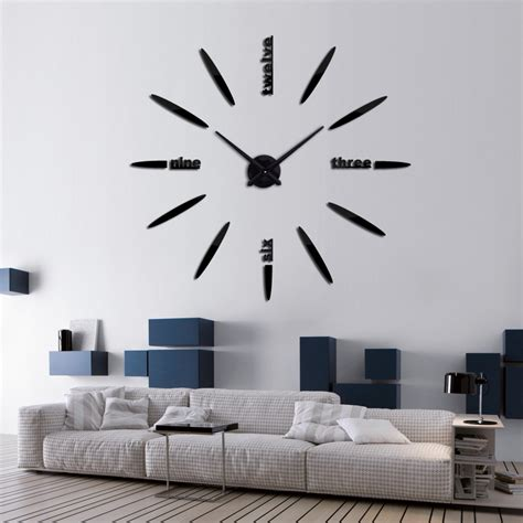 living room wall clock 2016 hot sale large wall clock acrylicmirror clocks