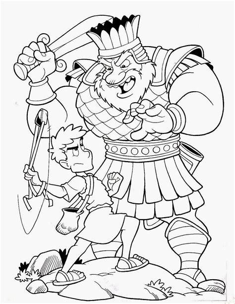 dibujos para colorear de david y goliat lamina cristiana de david y goliat para colorear dibujos