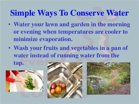 7 Ways To Conserve Water by Water Conservation Ppt
