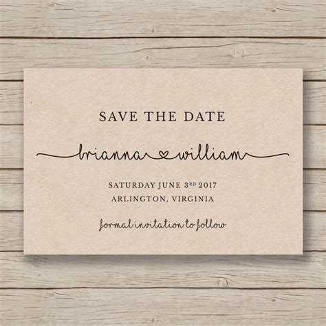 Save The Date Printable Template Editable By You In Word Save The Date Cards Templates
