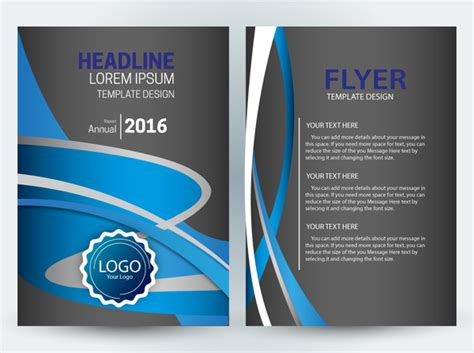 templates flyer download vector editable flyer template free vector download
