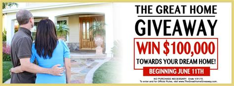 Great Home Giveaway - quot the great home giveaway quot sweepstakes is now underway