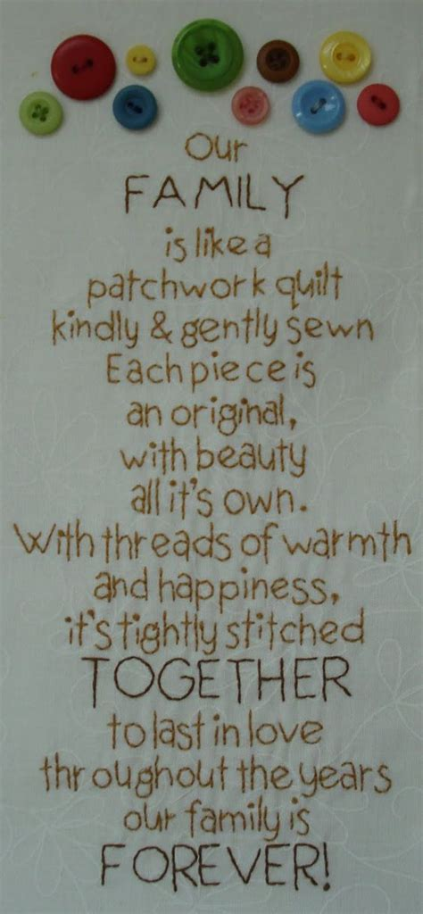 Patchwork Poem - our family is like a patchwork quilt from lori holt s