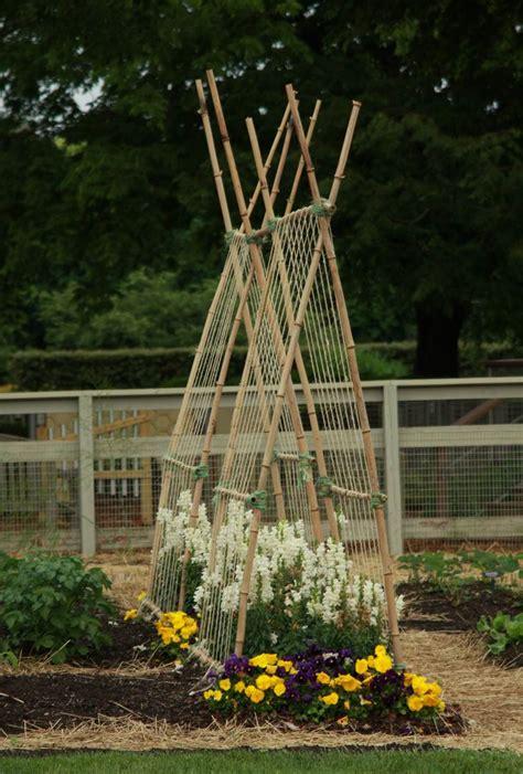 Trellis Ideas For Gardens with Veggie Trellising Ideas From Longwood Gardens Gardening
