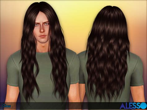 long hairstyles for men sims 4 anto s alesso glow male