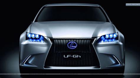 lexus lit lexus lf gh hybrid concept front pose with blue lights