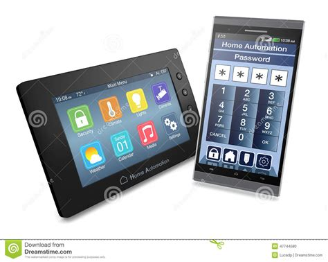 concept of home automation stock illustration image