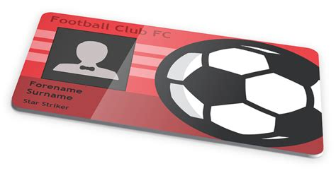 soccer player id card templates novelty football soccer club id card design by