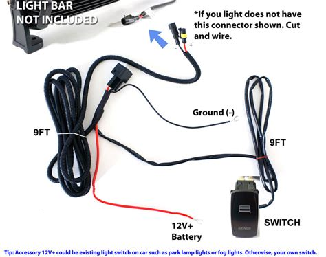 Universal Wiring Relay Harness Switch For 120w 180w 240w How To Wire A Led Light Bar