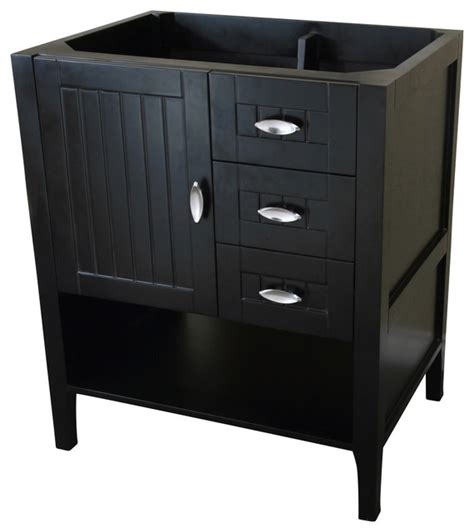 29 inch single sink vanity wood espresso cabinet only