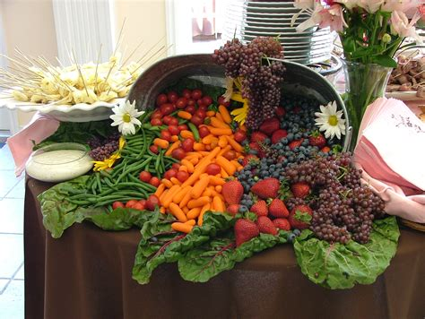 produce vegetables and fruit display file cornucopia of fruit and vegetables wedding banquet