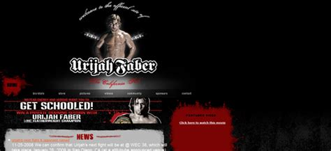 best mma website 25 awful web designs from 25 of mma s top fighters