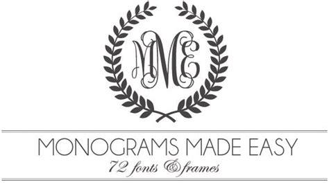 monogram template free monograms made easy 72 fonts frames damask