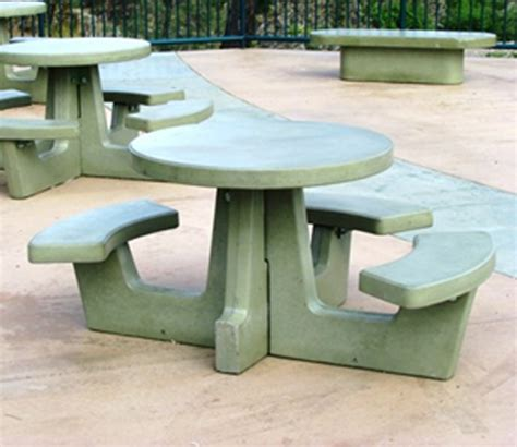 cement picnic tables 64 in simple home decoration