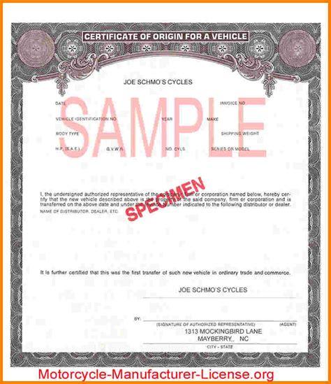 certificate  origin statement case statement