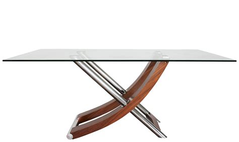 71x40 rectangular dining table w glass top