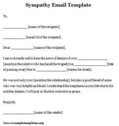 email template for sympathy format of sympathy email template sle templates