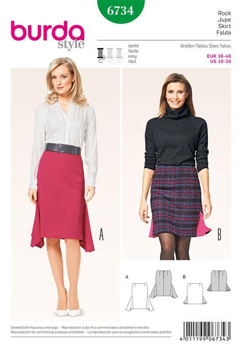skirt pattern burda burda 6734 misses pencil skirt sewing pattern