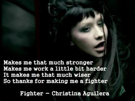 Christina Aguilera Meme - christina aguilera fighter inspirational quotes