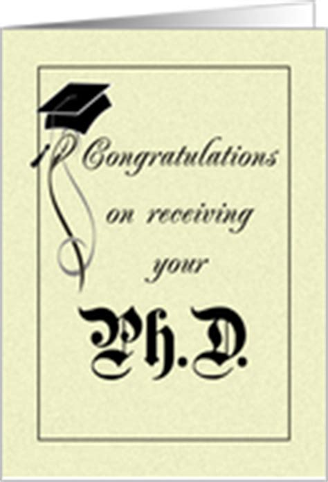 Congratulations Mba Graduation by Congratulations On Doctoral Graduation Cards From Greeting