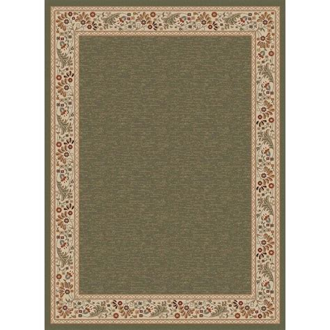 Tayse Rugs Sensation Green 5 Ft 3 In X 7 Ft 3 In Home Depot Area Rugs 5x8