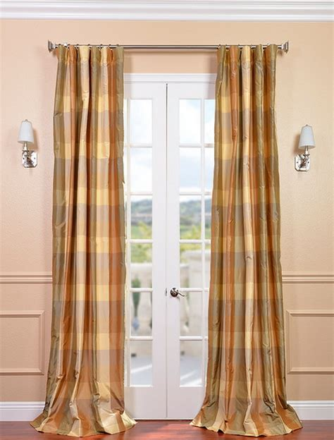 plaid silk curtains genoa silk taffeta plaid curtain contemporary curtains