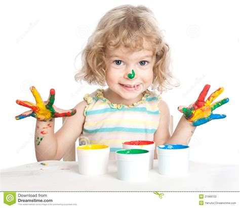 painting child child painting stock photo image of space concept