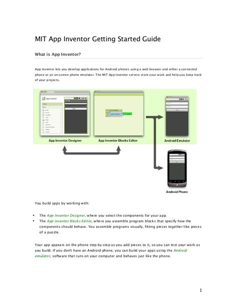 app inventor getting started guide