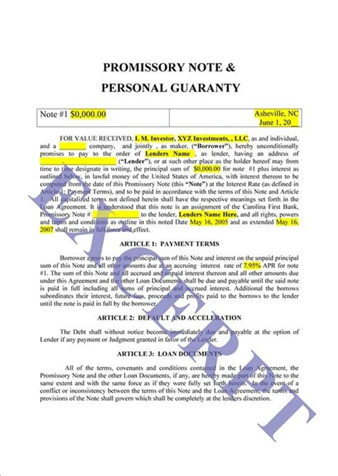 Personal Guarantee Letter For Loan Personal Loan Guarantor Letter Sle 15 Personal Loan Agreement Sle Sendletters