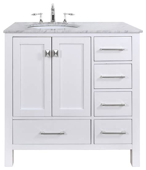 left side sink bathroom vanity does this vanity come with the draws on the left side