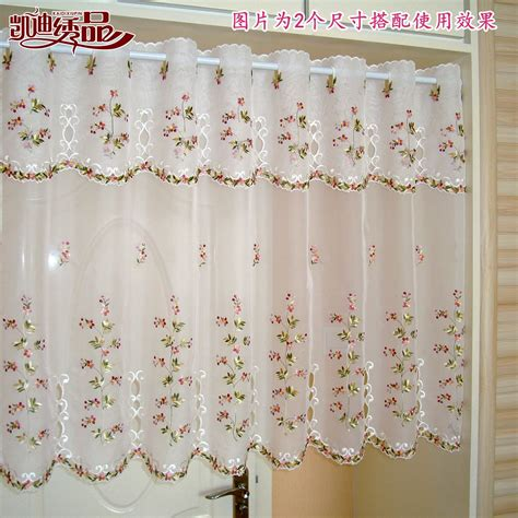 Morden Tube Rustic Window Curtain Embroidery Fabric Fabric For Kitchen Curtains