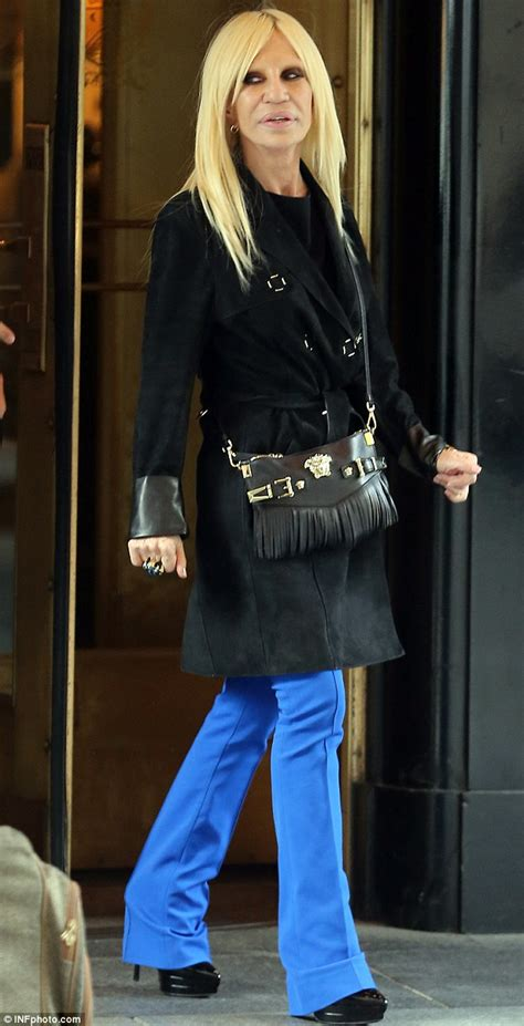 Donatella Versace Out And About In Ny by Donatella Versace Shows Dramatically Fuller With