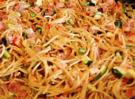pasta recepies rhonda s confetti spaghetti pasta salad