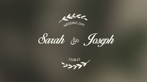 Wedding Titles Special Events Envato Videohive After Effects Templates Wedding Title Templates