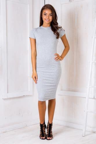 Cap Mid Shift Dress Light Grey day dresses everyday dresses shop casual