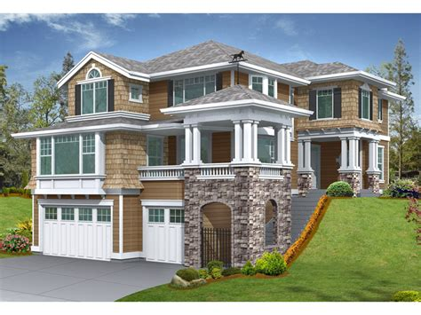 front sloping lot house plans gramercy place craftsman home plan 071d 0134 house plans and more