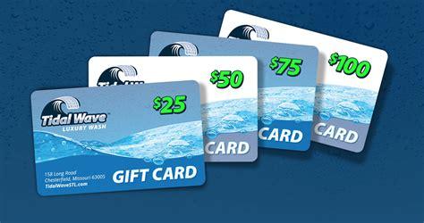Tidal Gift Card - home tidal wave luxury car wash