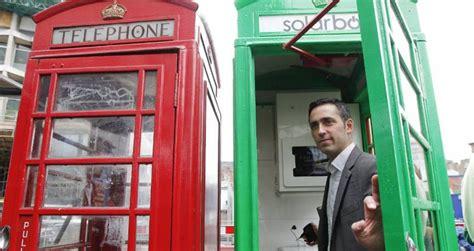 cabine telefoniche londinesi solarbox a londra le cabine telefoniche diventano
